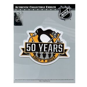 Fanartikel NHL Patch Aufnäher Anniversary Patch Pittsburgh Penguins 50 Years Eishockey