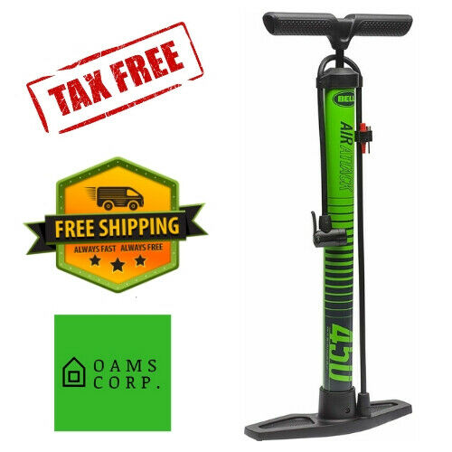 Bell Sports Air Attack 650 High-Volume Bicycle Floor Pump With Gauge Yellow