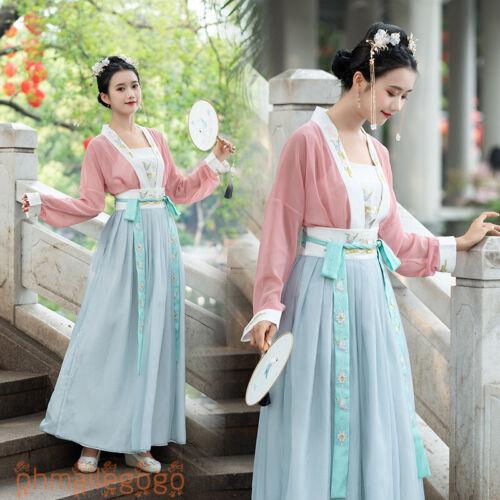 Women/'s Dress Tops Inner Skirt Hanfu Chiffon Tang Dynasty Chinese Dance Dress