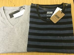 X2  plain v-neck  T-shirts  from jacamo 4XL GREY  bnip/'s