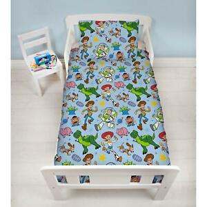 Toy-Story-Gang-Junior-Bebe-Literie-Set-4-IN-1-Woody-Buzz-L-039-Eclair-Enfants