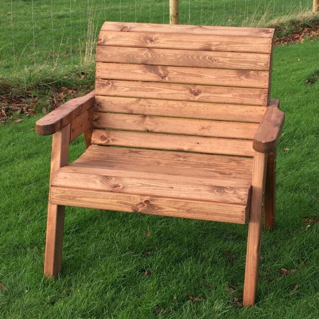 Hand Made Traditional Chunky Rustic Wooden Garden Extra ...