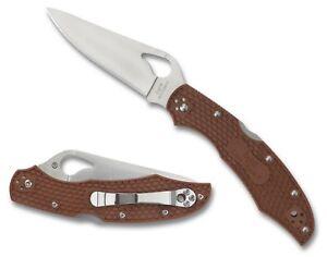 Byrd-Cara-Cara-2-Lightweight-Brown-Plain-Edge-Knife-BY03PBN2