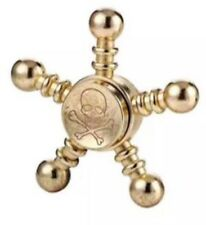 Metal GOLD Pirate Skull Spinner Steel Fidget Hand Finger Steering Wheel Ball