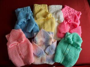 Assorted Hand Knitted Sweats Vestes Et Assorti Couverture Pour.-afficher Le Titre D'origine