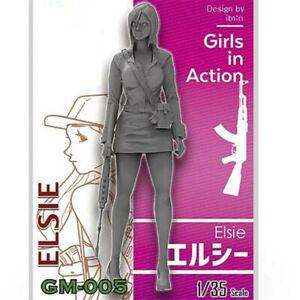 1-35-Elsie-chicas-en-accion-Resina-Model-Kits-Sin-Pintar-GK-sin-montar