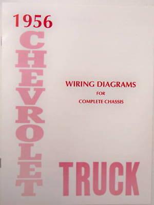 1956 chevy pickup wiring diagram 1956 chevrolet truck wiring diagrams ebay  1956 chevrolet truck wiring diagrams ebay
