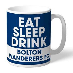 Bolton Wanderers F.c - Personalised Ceramic Mug (eat, Sleep, Drink)