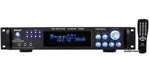 NEW-Pyle-P2001AT-2000W-Home-Stereo-Receiver-Amplifier-AM-FM-AUX-MIC-In-amp-Remote