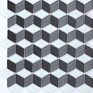 3D-Effect-White-Grey-Black-Glass-Mosaic-Tiles-Bathroom-Splashback-MT0083