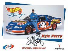 KYLE PETTY AUTOGRAPHED 1997 HOT WHEELS PE2 RACING NASCAR HERO PHOTO POSTCARD