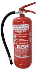 NEU Orginalverpackt  Feuerlöscher ABC Pulver 6 kg EN3 + Manometer Pulverlöscher