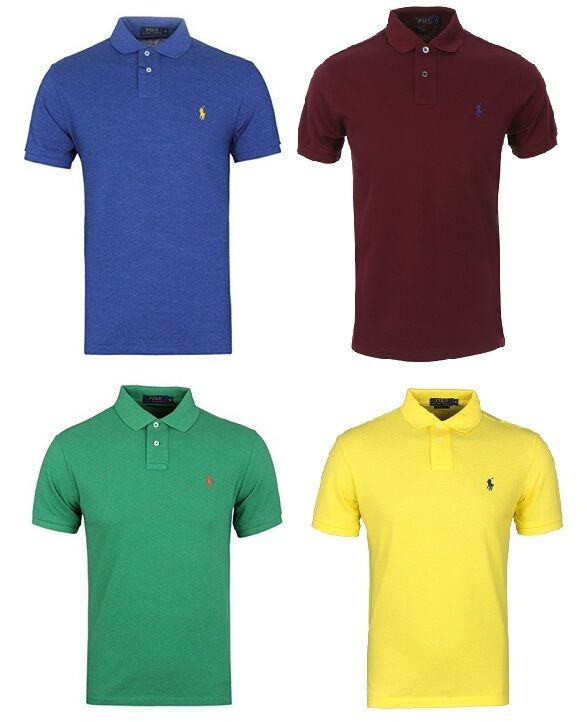 RALPH LAUREN POLO MENS T Shirt  Tee blueE GREEN  S M L XL CLASSIC FIT BNWT