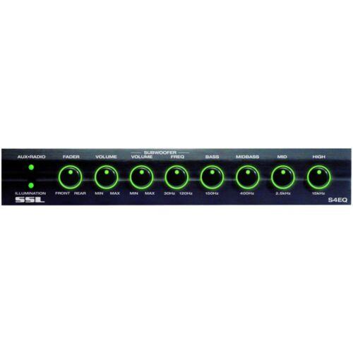 Soundstorm SSL S4EQ 4 Band Pre Amp Graphic Car Audio Stereo Equalizer w// Subs EQ