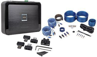 """Alpine PDX-F4 400 Watt 4-Channel Car Audio Class """"D"""" Amplifier + Amp Kit"""