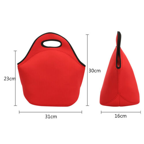 Portable Small Lunch Food Storage Box Insulated School Office Picnic Bags Pouch