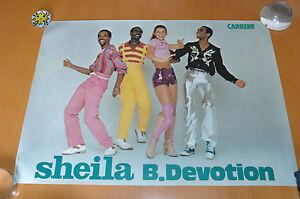 SHEILA-amp-B-DEVOTION-1977-DISQUES-CARRERE-RARE-AFFICHE-FRENCH-POSTER-ORIGINAL