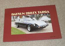 Datsun / Nissan 280ZX Targa Sports Car Brochure 280 ZX 1982