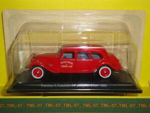 Voiture-1-43e-Atlas-CITROEN-TRACTION-Traction-11-Familiale-des-Pompiers-1955
