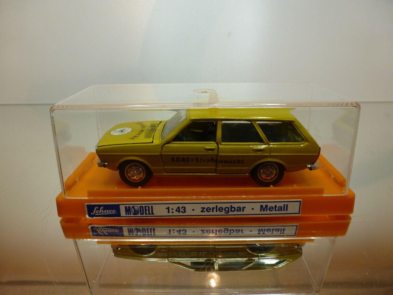 SCHUCO VW VOLKSWAGEN PASSAT ADAC STRASSENWACHT - MUSTARD 1 43 - VERY GOOD IN BOX