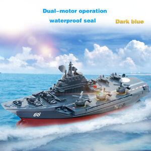 2-4GHz-Radio-Control-Radio-Telecommande-Navy-Aircraft-Carrier-Ship-Bateau-Navire-de-Guerre-Jouet