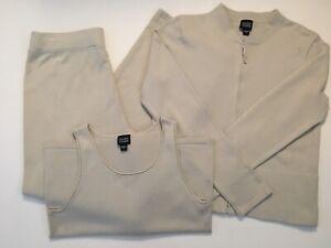 eileen fisher knit pants jacket  shell cotton blend