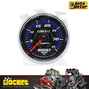 Auto Meter Cobalt 2-1/16 Boost Gauge 0-35PSI - AU6104
