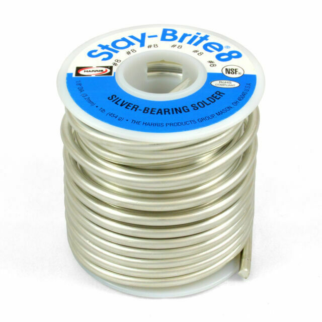 Harris Solder Kit SB861 /& SCPF4 Stay-Brite 8 Silver Bearing Solder with Flux