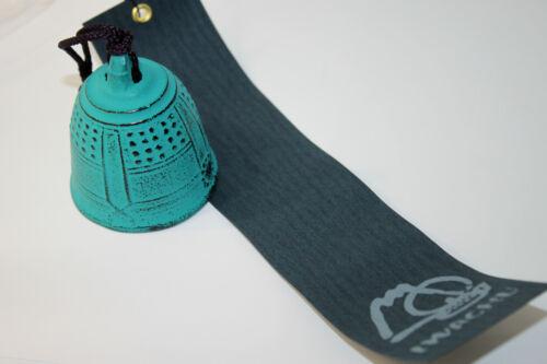 風鈴 FURIN - Cloche à vent métal TURQUOISE Made in Japan - Import Japon - BHTK