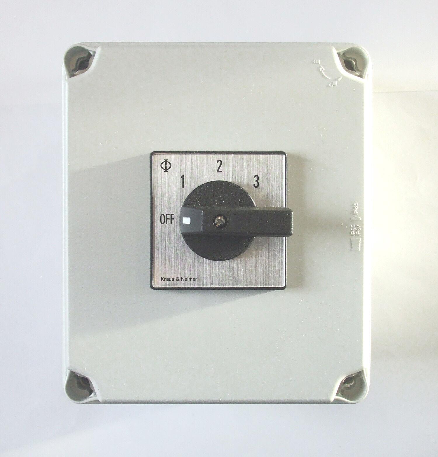 Netzteil 240v Power Wahlschalter 32amp 2 Stange 3 Weg mit Halterung Dose PSS132