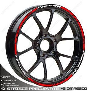 PROFILI-ADESIVI-SPORT-CERCHIO-RUOTA-STICKERS-BMW-F800R-F800-R-BIANCO-ROSSO