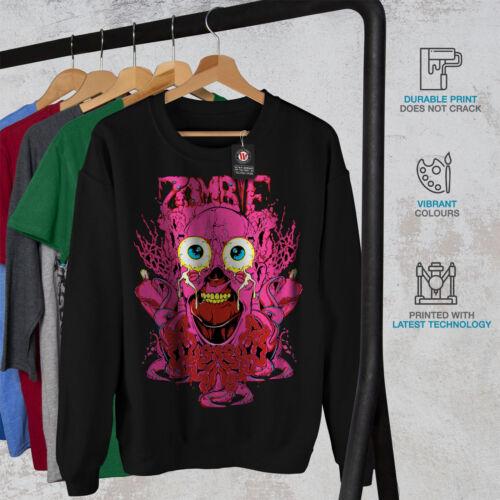 Men Zombie Felpa Creepy Black Horror New Guts CqvZx06q