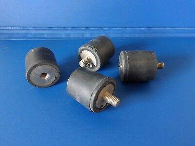 Schwingungsdämpfer 25x25mm M6 Gummipuffer Dämpfungslager Silent Block 25 x 25 mm