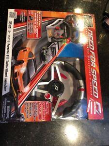 Mega-Bloks-Need-for-Speed-Porsche-911-Turbo-Wheel-Launcher-95716-New-36pc