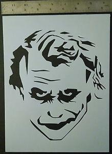 Details About Joker Smile Heath Ledger Face Batman 8 5 X 11 Custom Stencil Free Shipping