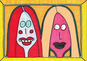 Original-Mixed-Media-Drawing-Painting-by-Jay-Snelling-Outsider-Art-Brut