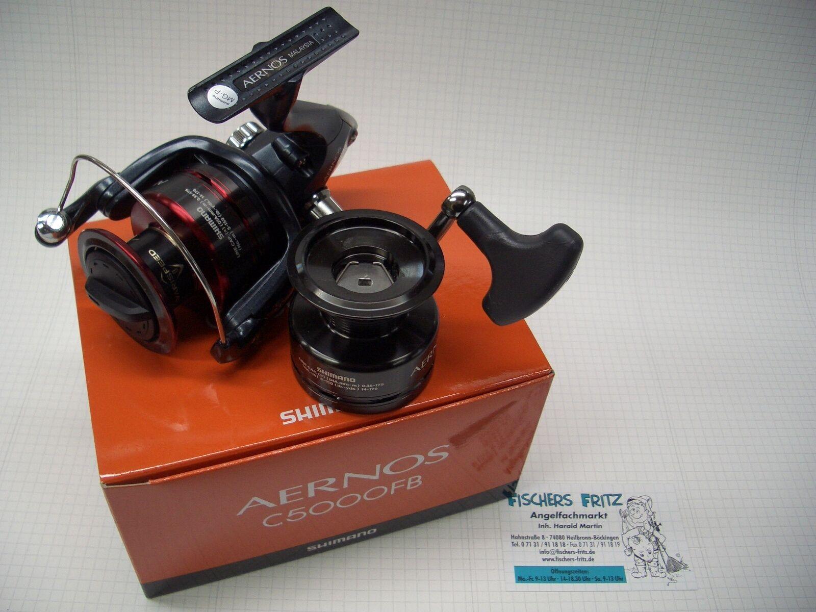 Shimano Aernos C 5000FB  neu inkl. Ersatzspule Frontbremse Rolle Angelrolle