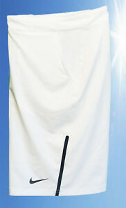 NEW NIKE Mens DriFit Stay Cool TENNIS SHORTS Ivory White (black ... c066dcaea4ff