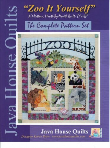 ZOO IT YOURSELF BOM APPLIQUE QUILT QUILTING PATTERN, From Java House Quilts NEW
