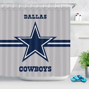 "American Texas Retro Star Fabric Shower Curtain Bathroom Waterproof 71/""x71/"""