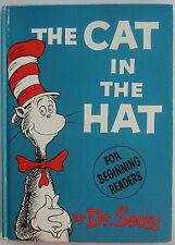 THE CAT IN THE HAT Vintage Dr. Seuss Book DJ 1st Edition/3rd Dust Jacket Early