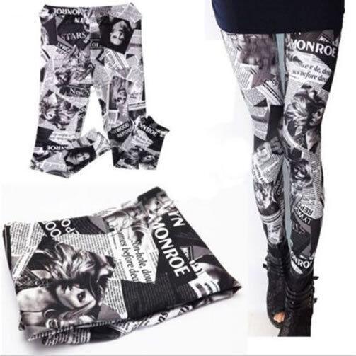 New Sexy Women Lady's Stylish Punk Stretchy Leggings Skinny Pencil Pants