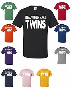 Image is loading Real-Women-Make-Twins-T-Shirt-Funny-Mom-  sc 1 st  eBay & Real Women Make Twins T-Shirt Funny Mom Of Twins Gift Mommy Motheru0027s ...