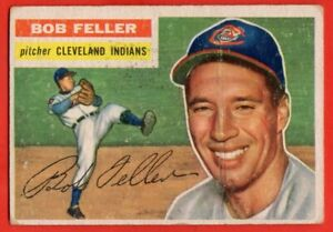 1956-Topps-200-Bob-Feller-VG-VGEX-Hall-of-Fame-Cleveland-Indians-FREE-SHIP