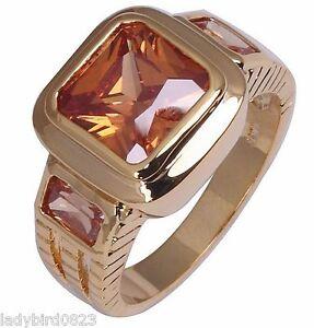Ring-Gr-62-66-Fingerring-Gold-gefuellt-Herrenring-Goldring-Stein-Siegelring