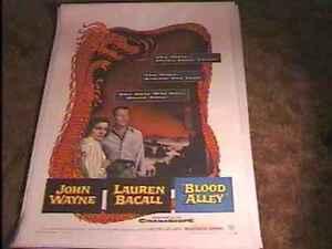 BLOOD-ALLEY-1955-MOVIE-POSTER-JOHN-WAYNE-LINEN
