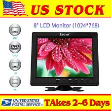 "Portable S801H HD 8"" TFT LCD Monitor VGA BNC Video Audio HDMI Input For PC CCTV"