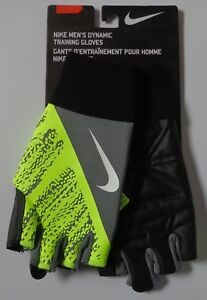 Nike-Hombre-Dinamico-Guantes-Entrenamiento-Gris-Fresco-Voltio-Negro-Blanco