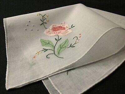 Vintage Linen Handkerchief from Austria