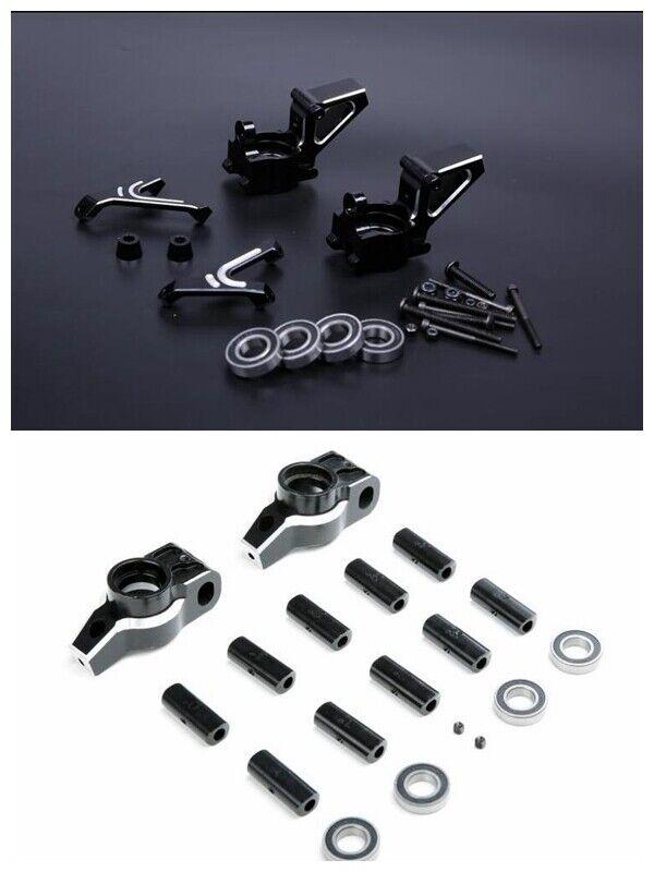CNC tuttioy davanti + rear rueda hub autorier mount for  HPI baja 5b 5t 5sc Rovan KM  in vendita